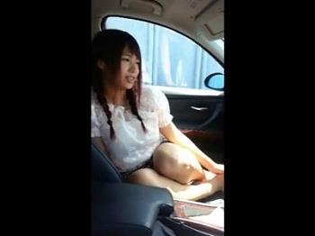 <個人撮影>車の中で昼間っから堂々と肉…