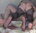 【個人撮影】極魔羅の上に覆い被さり自ら快楽貪るパンスト美女